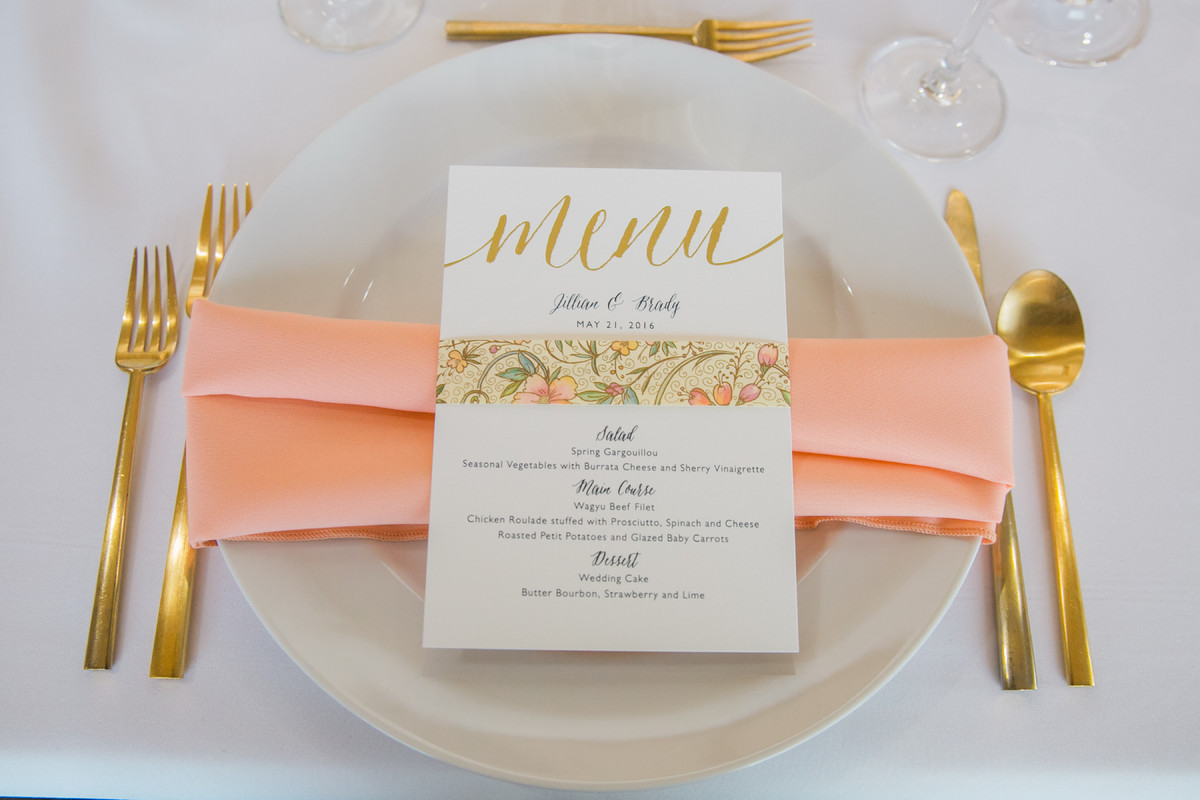 Hollywood Glam Shabby Chic Gold Pink Indoor Reception Menu Cards ...