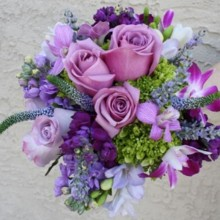 220x220 sq 1498334668239 wedding flower bouquets purple picture3 300x300