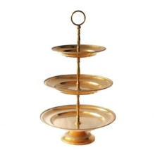 220x220 sq 1506709902020 large 3 tier brass serving tray