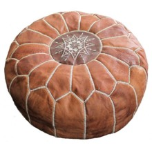 220x220 sq 1512751986645 leather pouf 2