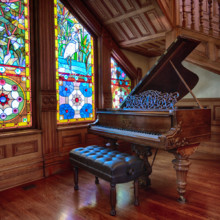 220x220 sq 1506780983715 bsm   piano with stained glass