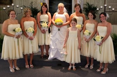 Military Wedding...Yellow Bridesmaid Dresses...Flower Help ...