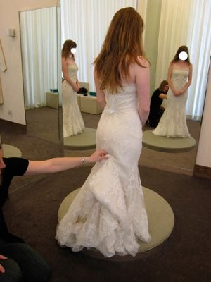 Under Bustle Wedding Dress