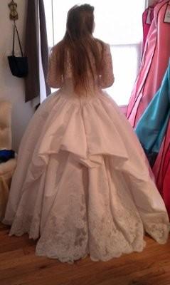 Ballroom wedding dress bustle images