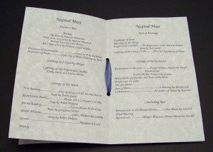 As Promised ~ Wedding Programs for Catholic Ceremony! :o ...