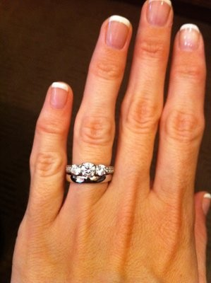 Show Off Your Mismatched Rings!  Weddings, Fun Stuff. Straight Band Engagement Rings. Japanese Wedding Rings. Mermaid Rings. 6 Prong Engagement Rings. Radient Engagement Rings. Gothic Cross Rings. Diamond Ring Wedding Rings. Contemporary Engagement Rings