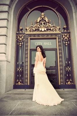 Wedding Dress At Courthouse Wedding Weddings Beauty