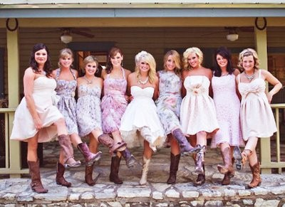 Country style semi formal dresses
