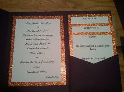 pure diy i cut the pocket fold envelopes myself and all printed at home heres pics - Diy Pocket Wedding Invitations