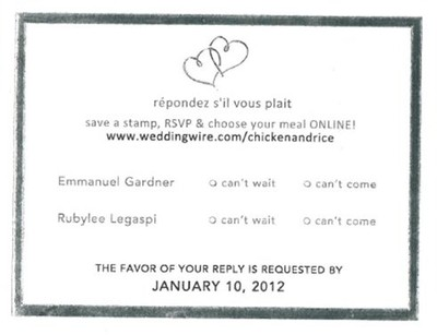 Response cards: Mail-in vs. Online | Weddings, Etiquette and ...
