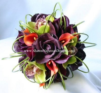 Eggplant Purple And Orange But What Shade Weddings Style - Burnt orange and green wedding colors