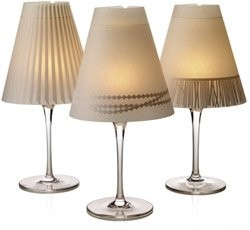 Wine glass lamp shades weddings do it yourself for Do it yourself wine glasses