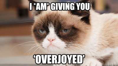 Congratulations Grumpy Cat