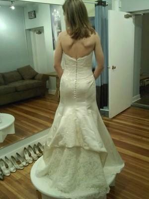 Last dress fitting pics shtuff just got real weddings for Underwear under wedding dress