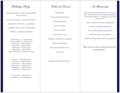 My Vistaprint Wedding Programs | Weddings, Do It Yourself ...