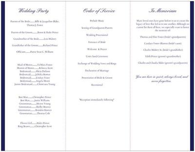 Vistaprint Wedding Programs.Vista Print Wedding Programs
