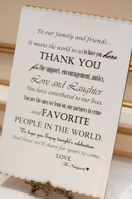 Thank You Sign For Wedding Gift Table : have a