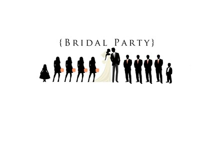 bridal party silhouettes yes weddings fun stuff wedding forums weddingwire. Black Bedroom Furniture Sets. Home Design Ideas