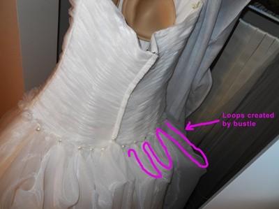 Organza Dress Bustle Trouble