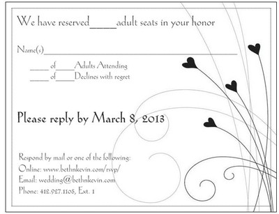 Whats the best way to tell people they cant bring a plus for Wedding invitation wording limited seating