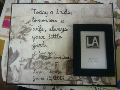 DIY beautiful gift for parents of bride ...or groom ...great deal ...