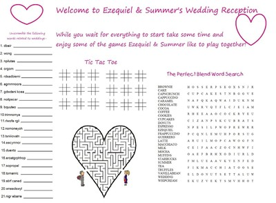 Wedding Program Games Pictures To Pin On Pinterest