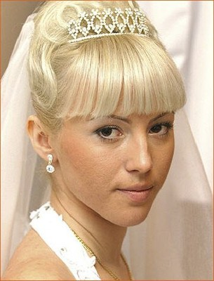 wedding hair with bangs weddings beauty and attire. Black Bedroom Furniture Sets. Home Design Ideas