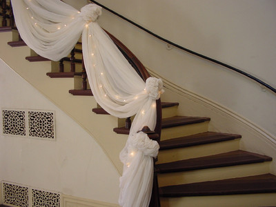Decorating your banister weddings fun stuff wedding for How to decorate a banister
