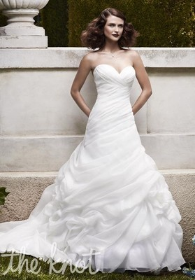 Too much hoochie cleavage weddings beauty and attire for How much are casablanca wedding dresses
