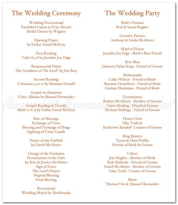 What do I include in a ceremony program? | Weddings, Etiquette and ...