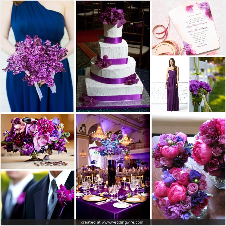 Help with wedding colors weddingbee Navy purple color
