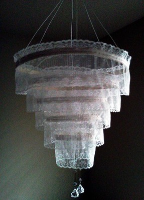 Diy lace chandelier crafthubs my diy lace chandelier weddings do it yourself aloadofball Images
