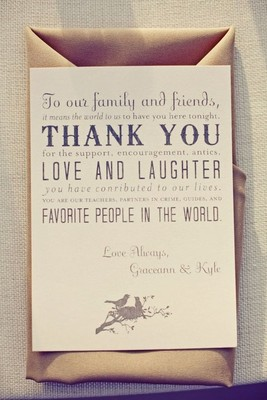 Thank You Note Wedding Gift Not Attending : Posted On: 2013-05-02 15:34:13.0Vendors are allowedAdd to My ...