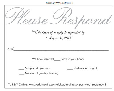 RSVPs and those who used Number of seats reserved in your honor – Invitation Card Rsvp