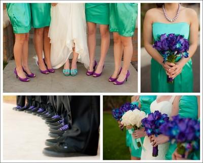 HELP PLEASE!!!( Teal and Purple bridesmaid dresses) | Weddings ...
