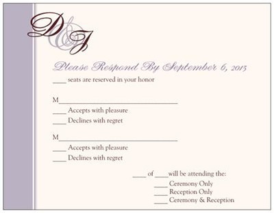 Examples of RSVP | Weddings, Etiquette and Advice, Do It Yourself ...
