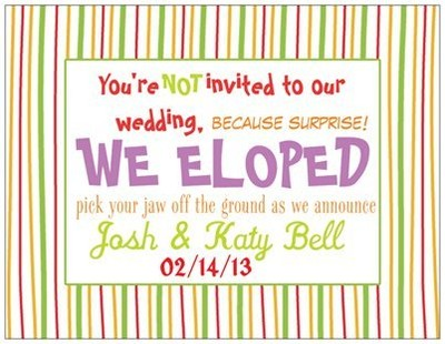 Elopement Baby Announcement card help | Weddings, Fun Stuff ...