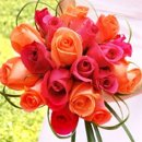 130x130 sq 1358562887567 orangeandpinkweddingflowers