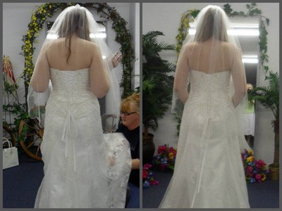 Wedding dress before and after weddings weight loss and for Corsets under wedding dress