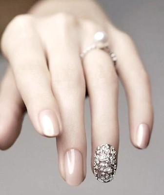 i will probably be going with something similar to these minus the nail decorations im known for only and always wearing pink nail polish my wedding