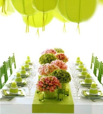 Light Olive Green Table Cloth What Color Flowers