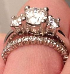 What kind of wedding band for a 3 stone engagement ring