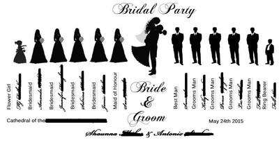 wedding party silhouette ideas book or fan weddings do it yourself wedding forums. Black Bedroom Furniture Sets. Home Design Ideas