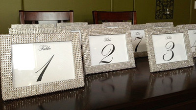 rhinestone photo frames completed weddings do it yourself wedding forums weddingwire