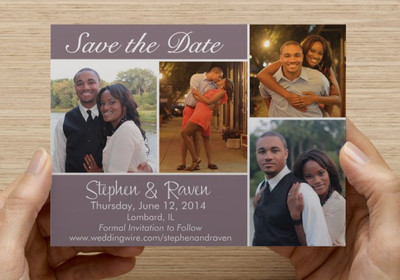 Post card save the dates – Vistaprint Wedding Save the Date Magnets