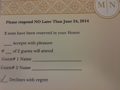 PSA Reminder: Number the RSVP response cards | Weddings, Etiquette ...