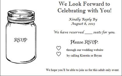 Alternative rsvp cards weddings do it yourself wedding forums