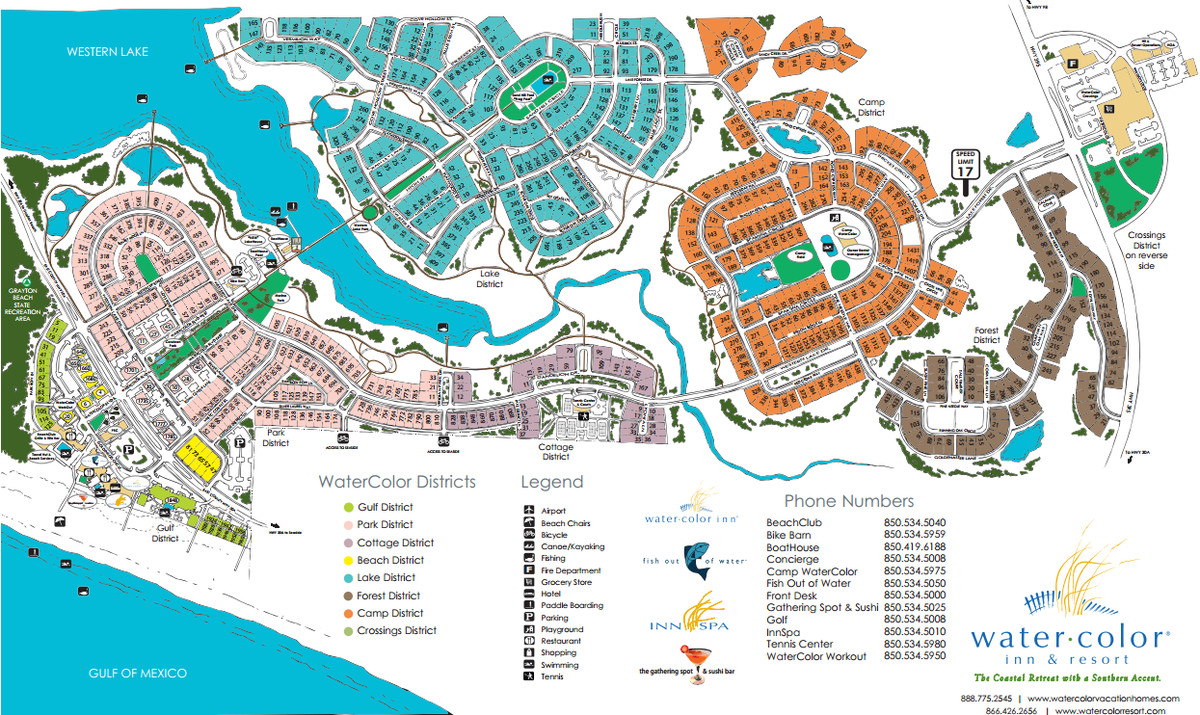 Alfa img - Showing > Watercolor Resort Map