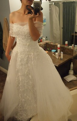 So When This Dress On Sale The Style Was Retiring I Bought It Arrived Just After We Got Engaged LOL