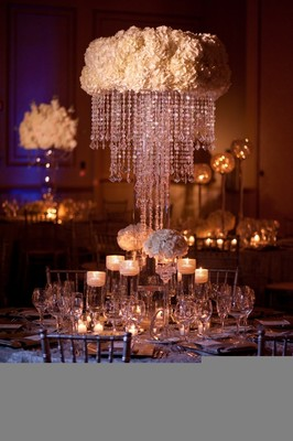 Help! DIY Crystal Chandelier Centerpiece | Weddings, Style ...